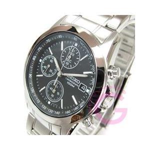 SEIKO (セイコー) SND309P クロノグラフ ステンレスベルト ブラック メンズウォッチ 腕時計【あすつく】|goody-online