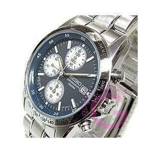 SEIKO (セイコー) SND365PC 1/20秒クロノグラフ 日本製ムーブメント搭載 ステンレスベルト ダークネイビー メンズウォッチ 腕時計|goody-online