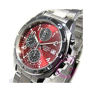 SEIKO (セイコー) SND495PC クロノグラフ レッド メンズウォッチ 腕時計|goody-online