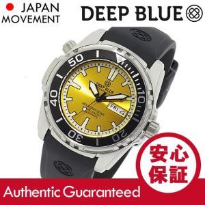 DEEP BLUE (ディープブルー) SQD-YW SEA QUEST Diver/シークエストダイバー 1000m防水 SEIKOムーブメント搭載 イエローダイアル 腕時計|goody-online