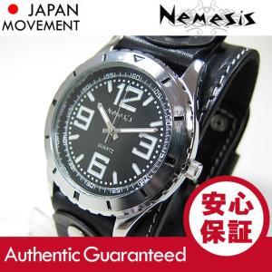 NEMESIS(ネメシス) Leather Cuff/レザーカフウォッチ STH096K アメリカンカジュアル メンズウォッチ 腕時計 【あすつく】|goody-online