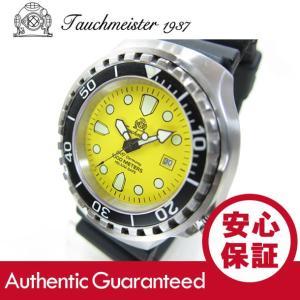 Tauchmeister 1937(トーチマイスター 1937) T0039 プロダイバーズモデル 1000m防水 メタル/SS イエロー メンズウォッチ 腕時計 【あすつく】|goody-online