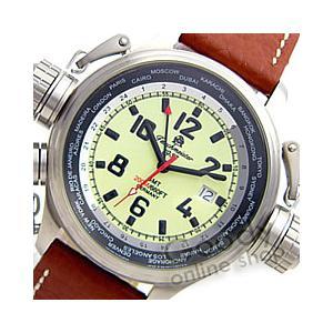 Tauchmeister 1937(トーチマイスター 1937) T0155 ワールドツアー GMT 3リューズ ドイツミリタリー メンズウォッチ 腕時計|goody-online