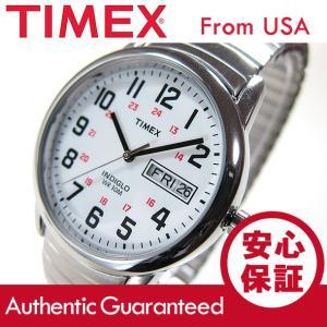 TIMEX(タイメックス) T20461 EASY READER/イージーリーダー 蛇腹ベルト シルバー メンズウォッチ 腕時計 【あすつく】|goody-online