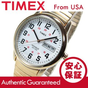 TIMEX(タイメックス) T20471 EASY READER/イージーリーダー 蛇腹ベルト ゴールド メンズウォッチ 腕時計【あすつく】|goody-online