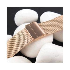 【ステンレスメッシュベルト 18MM/20MM/22MM/24MM】T2N Strap/T2Nストラップ T2N-05W-SSRG メッシュブレスレット 替えベルト 腕時計用|goody-online