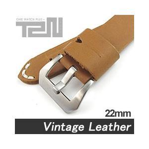 【22MM 140-180MM】 T2N Strap (T2Nストラップ) T2N-1067 本革ベルト ヴィンテージ クラシック ハンドメイド タンカラー 替え ストラップ 腕時計用 goody-online