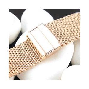 【ステンレスメッシュベルト 18MM/20MM/22MM/24MM】T2N Strap/T2Nストラップ T2N-10W-SSRG メッシュブレスレット 替えベルト 腕時計用|goody-online