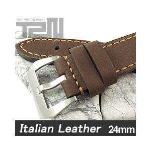 【24MM 140-180MM】 T2N Strap (T2Nストラップ) T2N-1123 イタリアンレザーベルト ヴィンテージ クラシック ブラウン 替え ストラップ 腕時計用【あすつく】|goody-online