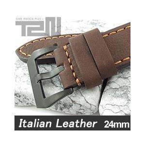 【24MM 140-180MM】 T2N Strap (T2Nストラップ) T2N-1123PVB イタリアンレザーベルト ヴィンテージ クラシック ブラウン 替えベルト 腕時計用【あすつく】|goody-online