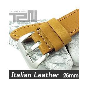 【26MM 140-180MM】 T2N Strap (T2Nストラップ) T2N-1127 イタリアンレザーベルト ヴィンテージ クラシック タンカラー 替え ストラップ 腕時計用 goody-online