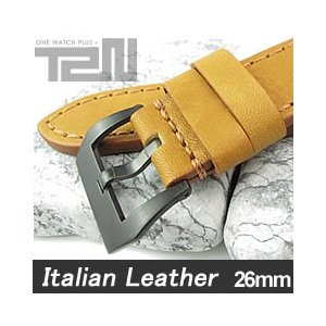 【26MM 140-180MM】 T2N Strap (T2Nストラップ) T2N-1127PVB イタリアンレザーベルト ヴィンテージ クラシック タンカラー 替え ストラップ 腕時計用 goody-online