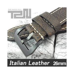 【26MM 140-180MM】 T2N Strap (T2Nストラップ) T2N-1130PVB イタリアンレザーベルト ヴィンテージ ダークブラウン 替え ストラップ 腕時計用 【あすつく】|goody-online