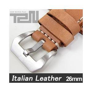 【26MM 140-180MM】 T2N Strap (T2Nストラップ) T2N-1136 イタリアンレザーベルト ヴィンテージ クラシック モンタナタンカラー 替え ストラップ 腕時計用|goody-online