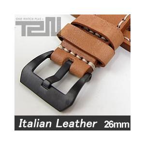 【26MM 140-180MM】 T2N Strap (T2Nストラップ) T2N-1136PVB イタリアンレザーベルト ヴィンテージ クラシック モンタナタンカラー 替え ストラップ 腕時計用|goody-online