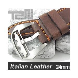 【24MM 135-185MM】 T2N Strap (T2Nストラップ) T2N-1145 イタリアンレザーベルト ヴィンテージ クラシック ブラウン 替え ストラップ 腕時計用|goody-online