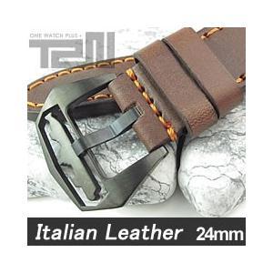 【24MM 135-185MM】 T2N Strap (T2Nストラップ) T2N-1145SPVB イタリアンレザーベルト ヴィンテージ クラシック ブラウン 替え ストラップ 腕時計用|goody-online