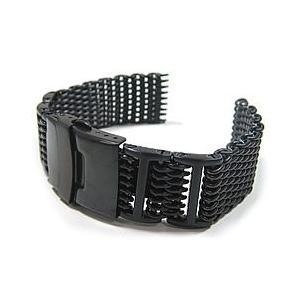 【Omega(オメガ)スタイル ステンレスメッシュベルト 20MM/22MM/24MM】T2N Strap/T2Nストラップ T2N-12WHIB PVD 1.2mmワイヤー 腕時計用|goody-online