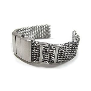 【Omega(オメガ)スタイル ステンレスメッシュベルト 20MM/22MM/24MM】T2N Strap/T2Nストラップ T2N-12WHID-1600 1.2mmワイヤー 腕時計用|goody-online