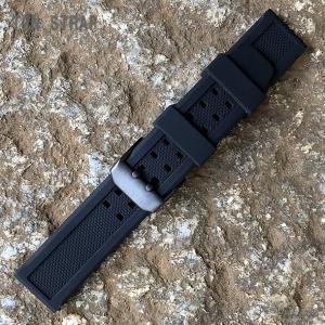 LUMINOX/ルミノックス対応 幅23MM ラバーベルト 替えベルト PVD ブラック 対応例:カラーマーク 3050 3051 3081 3151 8821 8823 8826など 腕時計用【あすつく】 goody-online