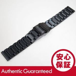 【ステンレスベルト 20MM/22MM】 T2Nストラップ T2N-SE002 3連 ブラッシュ Dバックル ブレスレット/バンド ブラック 替えベルト 腕時計|goody-online