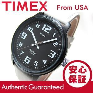 Timex (タイメックス) T2N204 BIG EASY READER/ビッグイージーリーダー レザーベルト ブラック×ホワイト メンズウォッチ 腕時計 【あすつく】|goody-online