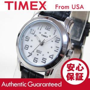 TIMEX (タイメックス) T2N435 エレベイテッド クラシックス レザーベルト ブラック レディース 腕時計 【あすつく】|goody-online