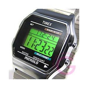 TIMEX(タイメックス) T78587 デジタル 蛇腹ベルト シルバー 海外輸入品 ユニセックスウォッチ 腕時計 【あすつく】|goody-online