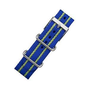 TIMEX(タイメックス) T7B920 Weekender/ウィークエンダー セントラルパーク フルサイズ用 20mm ナイロン替えベルト ブルー×グリーン 腕時計用 【あすつく】|goody-online