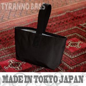 【日本製/MADE IN JAPAN】 TYRANNO BAGS/ティラノバッグ トートバッグ メンズ/レディース コーデュラ1000 ナイロン ターポリン ハンドメイド ブラック A4サイズ|goody-online