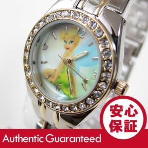 Disney (ディズニー) TNK406 Tinker Bell/ティンカー・ベル アナログ ストーン装飾 キッズ・子供 かわいい! レディースウォッチ 腕時計 【あすつく】|goody-online