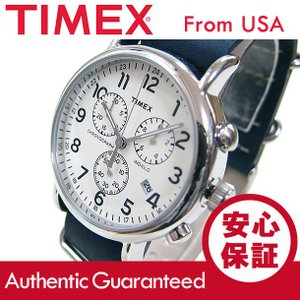 TIMEX (タイメックス) TW2P62100 Weekender/ウィークエンダー セントラルパーク クロノグラフ ミリタリー レザーベルト メンズウォッチ 腕時計 【あすつく】|goody-online