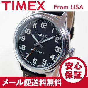 TIMEX (タイメックス) TW2R22800 New England/ニューイングランド レザーベルト ブラック メンズウォッチ 腕時計 【あすつく】|goody-online