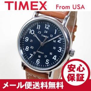TIMEX (タイメックス) TW2R42500 Weekender/ウィークエンダー ブルーダイアル レザー ブラウン メンズウォッチ 腕時計 【あすつく】|goody-online
