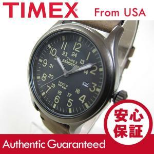 TIMEX (タイメックス) TW4B01700 Expedition Scout/エクスペディション スカウト レザーベルト ブラウン メンズウォッチ 腕時計 【あすつく】|goody-online