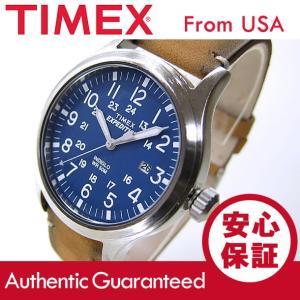 TIMEX (タイメックス) TW4B01800 Expedition Scout/エクスペディション スカウト レザーベルト ブルーダイアル メンズウォッチ 腕時計 【あすつく】|goody-online