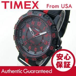 Timex (タイメックス) TW4B05500 Expedition Gallatin/エクスペディション ガラティン ナイロンベルト ブラック×レッド メンズウォッチ 腕時計 【あすつく】|goody-online