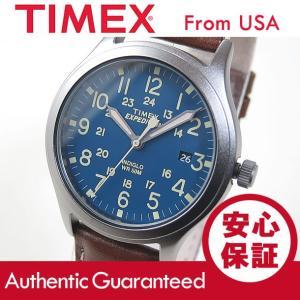 TIMEX (タイメックス) TW4B11100 Expedition Scout/エクスペディション スカウト レザーベルト ブルーダイアル メンズウォッチ 腕時計 【あすつく】|goody-online