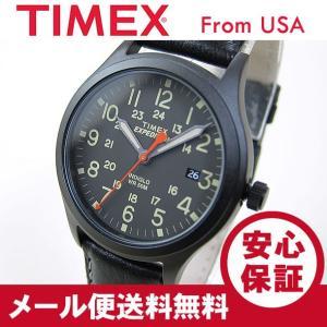 TIMEX (タイメックス) TW4B11200 Expedition Scout/エクスペディション スカウト レザーベルト ブラック メンズウォッチ 腕時計 【あすつく】|goody-online