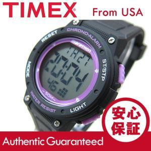 【大特価セール品】Timex (タイメックス) TW5K84700 マラソン デジタル ラバーベルト ブラック×パープル メンズウォッチ 腕時計 【あすつく】|goody-online