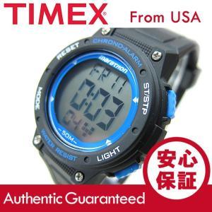 Timex (タイメックス) TW5K84800 Mid-Size Marathon/ミッドサイズ マラソン デジタル ラバーベルト ブラック×ブルー メンズウォッチ 腕時計 【あすつく】|goody-online