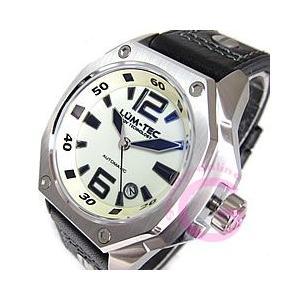 LUM-TEC (ルミテック) V5 Vシリーズ 自動巻き レザーベルト 文字盤全面蓄光 メンズウォッチ 腕時計|goody-online