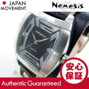 NEMESIS(ネメシス) Leather Cuff/レザーカフウォッチ VGB067K アメリカンカジュアル メンズウォッチ 腕時計 【あすつく】|goody-online