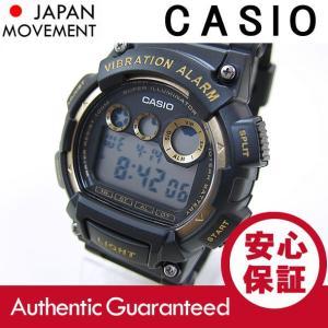 CASIO(カシオ) W-735H-1A2/W735H-1A2 スポーツ デジタル ブラック×ゴールド キッズ・子供 かわいい! メンズウォッチ チープカシオ 腕時計 【あすつく】|goody-online