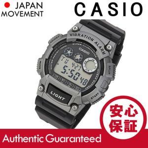 CASIO(カシオ) W-735H-1A3/W735H-1A3 スポーツ デジタル ブラック×シルバー キッズ・子供 かわいい! メンズウォッチ チープカシオ 腕時計|goody-online