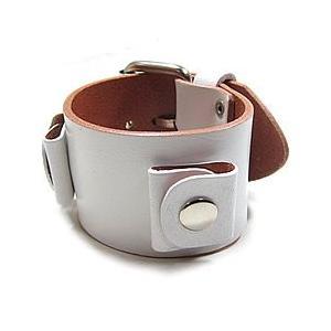 【ラグ幅:18-20mm対応】NEMESIS(ネメシス)WGB Leather Cuff/レザーカフ付け替えベルト アメリカンカジュアル 腕時計替えバンド/ベルト|goody-online