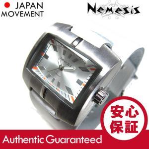 NEMESIS(ネメシス) Leather Cuff/レザーカフウォッチ WHST060S アメリカンカジュアル メンズウォッチ 腕時計【あすつく】|goody-online