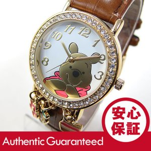 Disney (ディズニー) WTPAQ136 くまのプーさん アナログ ゴールド×ブラウン キッズ・子供 かわいい! レディースウォッチ 腕時計 【あすつく】 goody-online