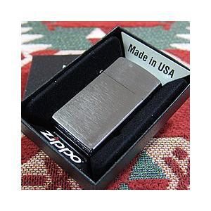 ZIPPO(ジッポー)1600 ブラッシュ クローム SLIM SIZE/スリム ZIPPO LIGHTER/ジッポライター 【あすつく】|goody-online