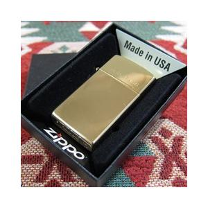 ZIPPO(ジッポー)1654 High Polish Brass/ハイポリッシュブラス(真鍮) ゴールド 『SOLID BRASS』 スリム ZIPPO LIGHTER/ジッポライター 【あすつく】|goody-online